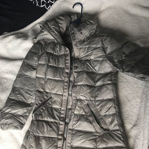 Armani exchange puffer coat silver